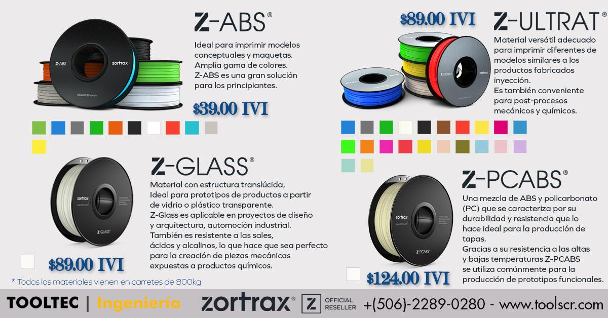 Zortrax FaceBook Ad Materiales